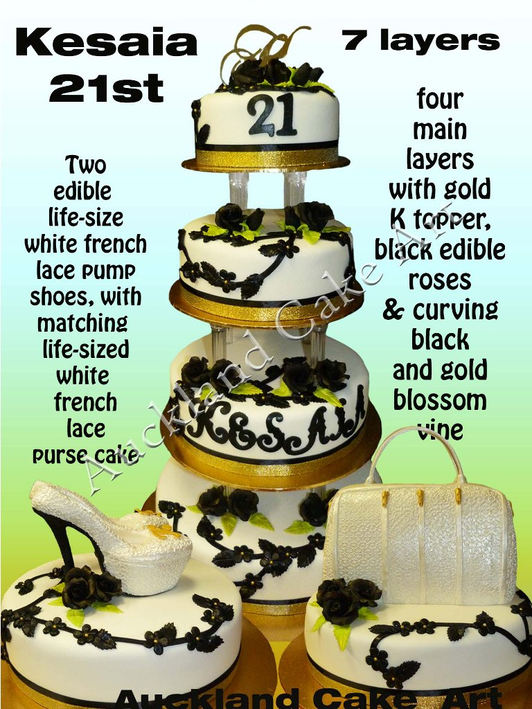 KESAIAS 7 LAYER BIRTHDAY CAKE