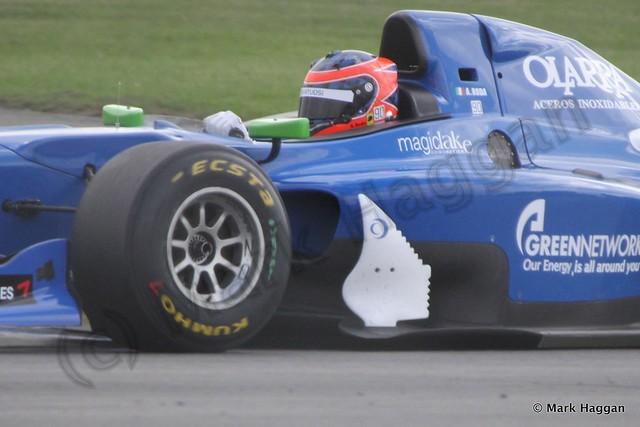 Andrea Roda in Auto GP at Donington Park