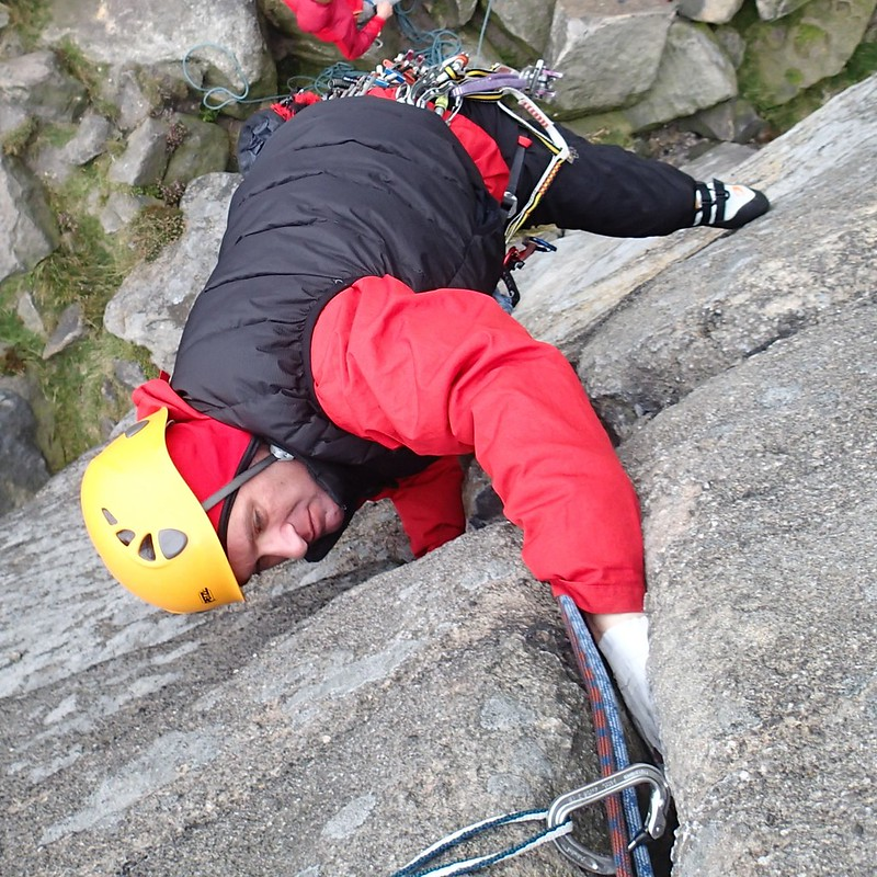 20 - On The File.  VS 4c.  Lead by Masa, belaying.