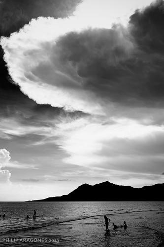 travel beach silhouette clouds lobo batangas blankandwhite philiparagones