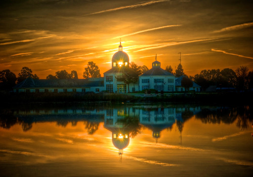 city reflection water marina sunrise dawn hall day cloudy partly suisun