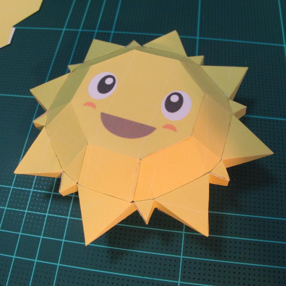 วิธีทำของเล่นโมเดลกระดาษรูปพระอาทิตย์ยิ้ม (Smiling Sun Paper Craft Model) 010