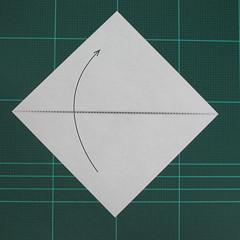 วิธีพับกระดาษเป็นสุนัขจิ้งจิกแบบง่าย (Simple Origami Fox) 001