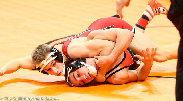 132 - Brandon Ortman (Pierz) over Jake Nohre (West Central Area-Ashby-Brandon-Evansville) Dec 5-3