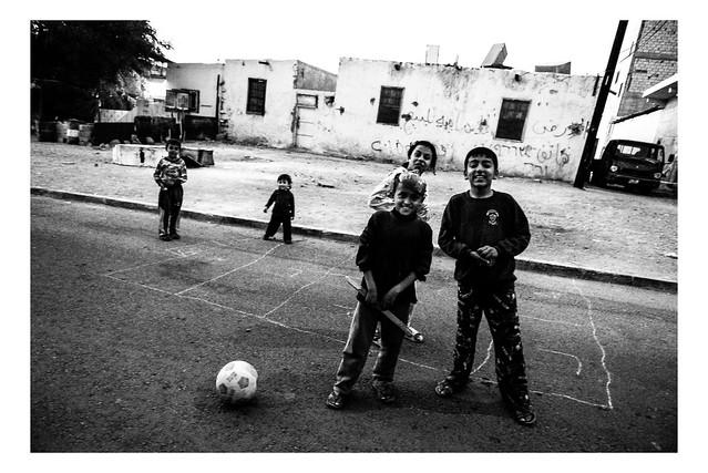 Children play outside in Aqaba, Jordan