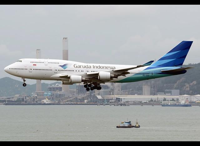 B747-4U3   Garuda Indonesia   PK-GSH   HKG
