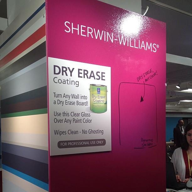 Metropolislikes Sherwinwilliams Dry Erase Coating Goes