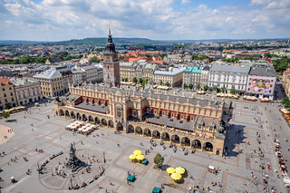 Sukiennice and Main Square as seen from St. Mary's Basilica | by Jorge Lascar