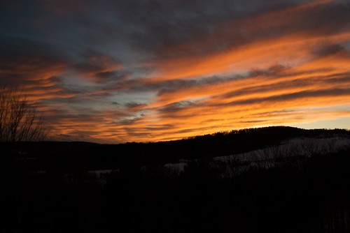 sunset usa clouds landscape vermont place quechee