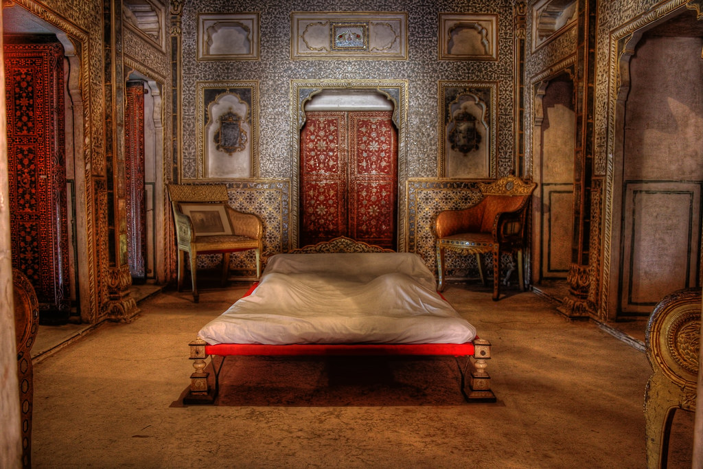 Bikaner Ind Junagarh Fort Royal Bedroom At Chandra Mahal