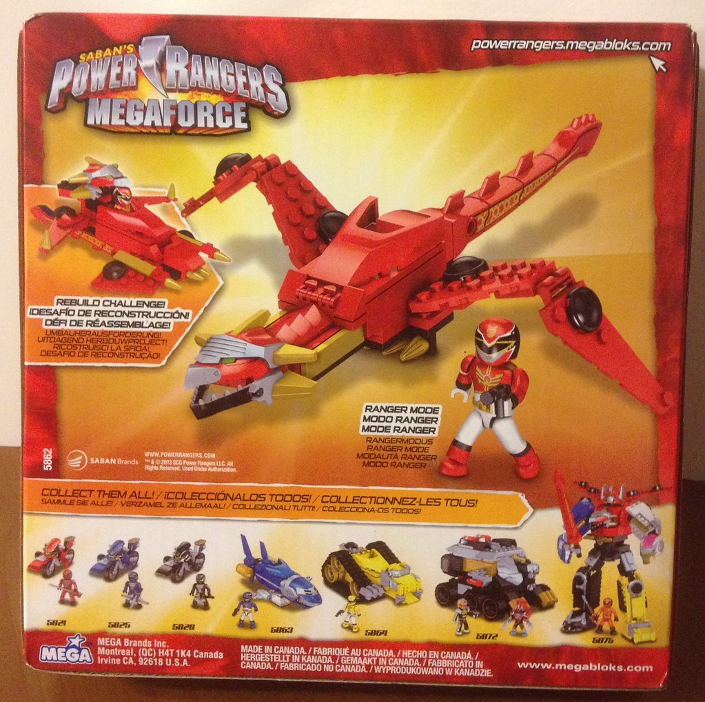 Power Rangers Megaforce Red Zord Mega Bloks (3) | Tsak