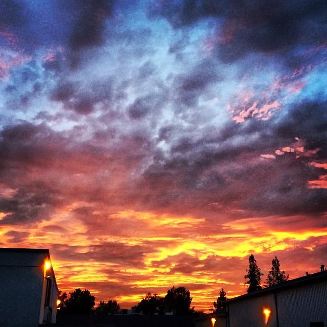 Tie-dye sky II. Sunset.