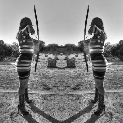 california monochrome fav50 symmetry bow cupertino archery hdr 3xp photomatix stevenscreekcountypark nex6 selp1650