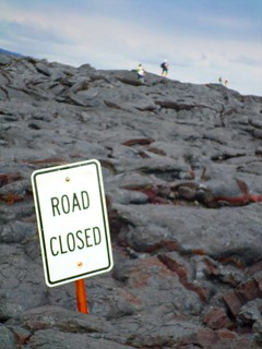 end of the road lava flows | by CharNewcomb