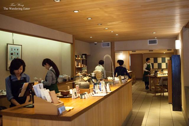 Interior of Ippudo store