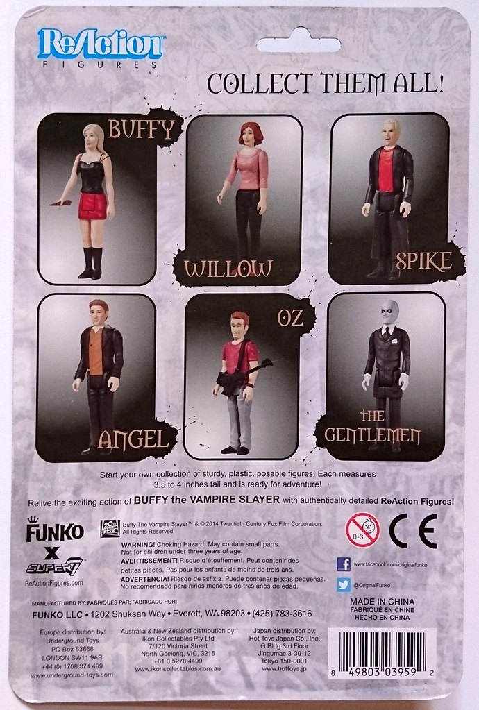 New Funko Super 7 ANGEL Buffy the Vampire Slayer ReAction Figures
