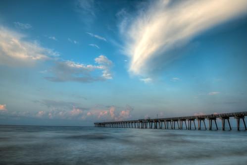 beach sunrise pier nikon day cloudy fl pcb panamacitybeach d800 panamacitybeachfl nikond800 bryanjaronik