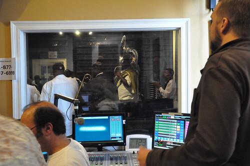 Watching Hot 8 Brass Band. Photo by Kichea S Burt.