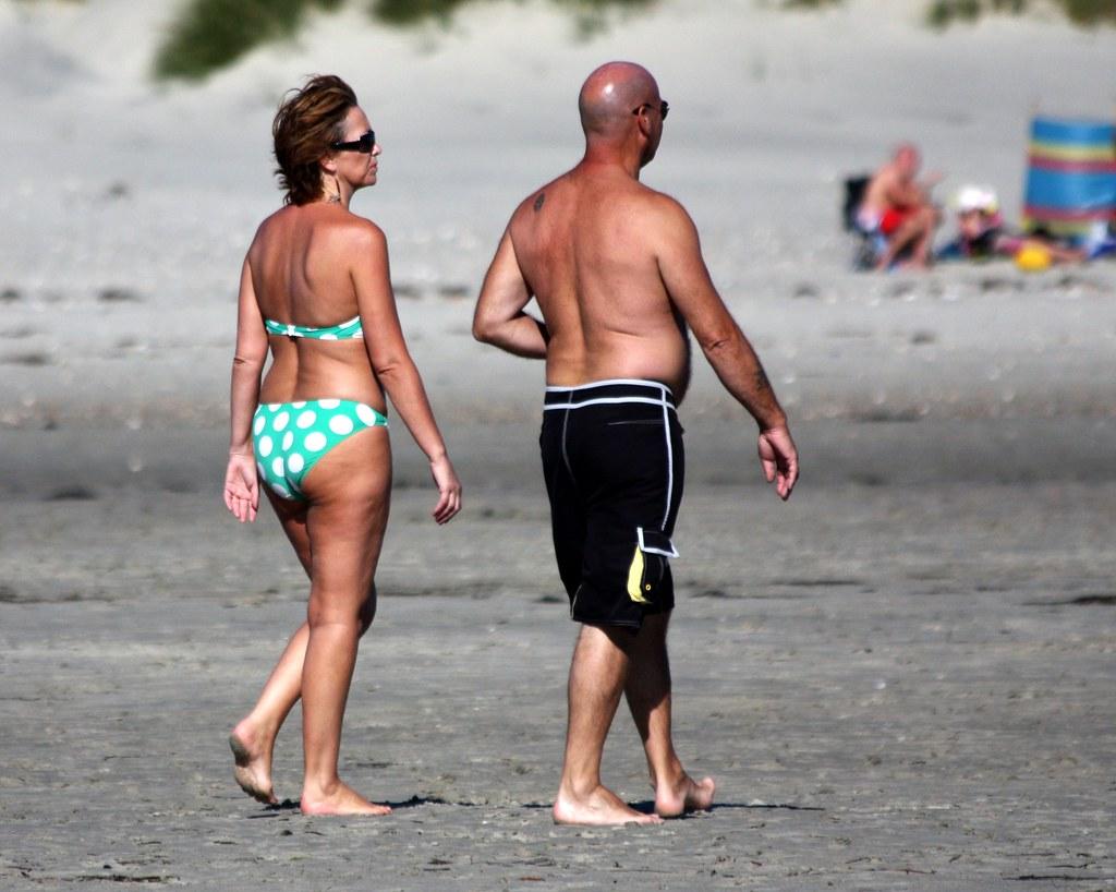 Couple nude beach Public nudist