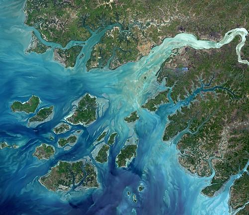 guineabissau earthfromspace bissagosislands landsat8