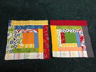 log cabin block for Quilting NewBEES group