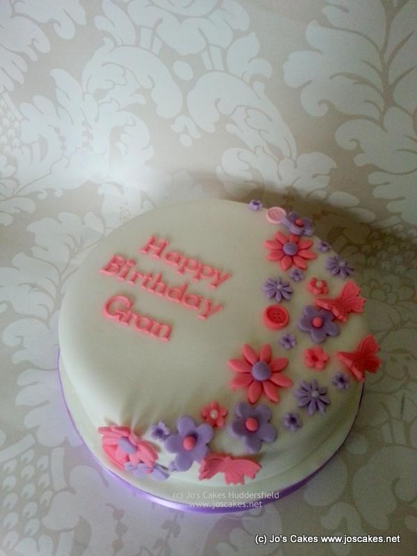 Outstanding Floral Birthday Cake For Gran White Rose Cake Design Flickr Birthday Cards Printable Opercafe Filternl