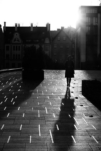 street streetphotography spring springtime contrejour contrast backlight sunset cityscape silhouette shadow lines pavement blackandwhite monochrome fujifilm xe2 xc50230