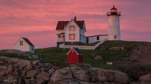 york newengland sunset nubble me maine jclay lighthouse