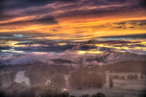 landscape sunset hotspringsvillage arkansas
