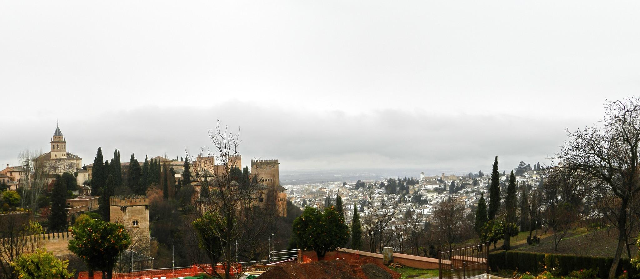 panorámica Palacio del Generalife Granada Patrimonio de la Humanidad