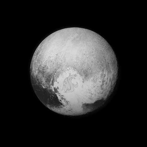 Look what the @newhorizonsmission spacecraft found on #Pluto! #PlutoFlyby #NASA #NewHorizons #CougsAreEverywhere #WSU #GoCougs