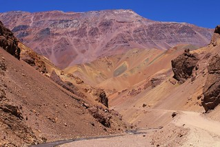 Colourful hills on the Chilean side of Paso Agua Negra | by Pikes On Bikes