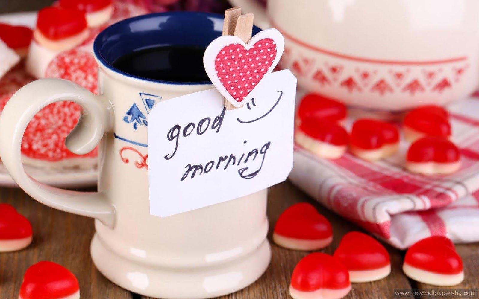 good morning tea hd wallpaper