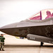 Maj. Nathan Sabin, taxis an F-35A of the 31st Test and Evaluation Squadron, a tenant unit at Edwards Air Force Base, Calif., before a test flight at Mountain Home AFB, Idaho, Feb 17, 2016. Six operational test and evaluation F-35s and more than 85 Airmen of the 31st TES travelled to Mountain Home AFB to conduct the first simulated deployment test of the F-35A, specifically to execute three key initial operational capability mission sets: suppression of enemy air defenses, close air support and air interdiction. (U.S. Air Force photo by J.M. Eddins Jr.)