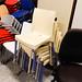 E25 cream plastic chair