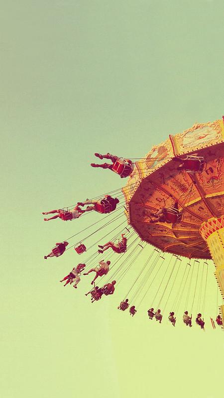 Amusement Park Ride iOS Wallpaper