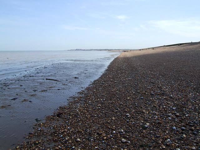 The coast west of Birchington-on-Sea