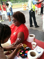 Adults got in on the body-painting fun, too.