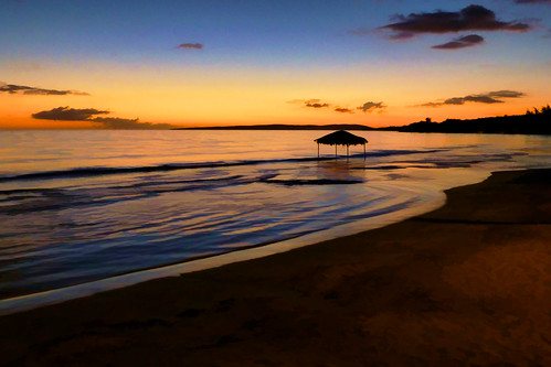 water artsy simplify landscape puertorico seaside shore coast beach sky clouds sand sea sunset caribbean