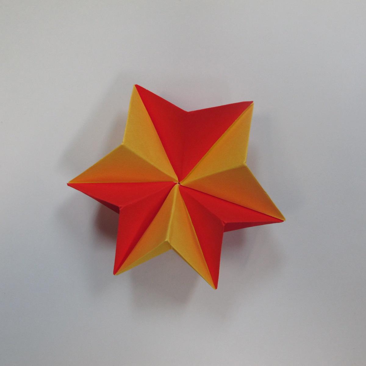 วิธีการพับกระดาษเป็นดาวหกแฉกแบบโมดูล่า 021
