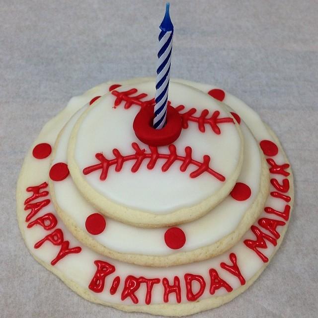 GLUTEN FREE Baseball, Cookie, Cake! Happy 7th Birthday, Ma