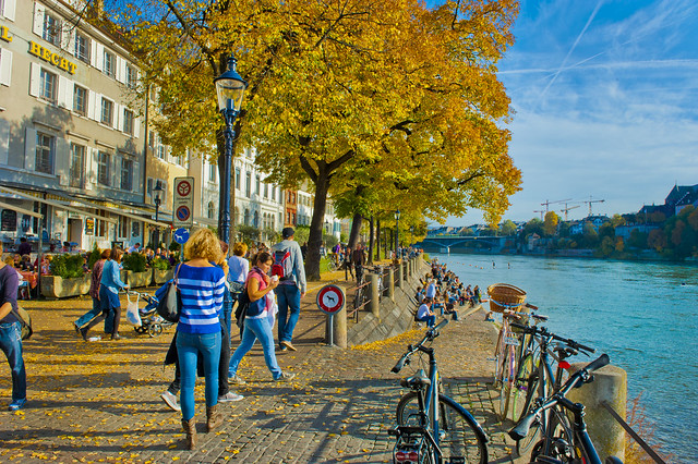 Basel in  autumn time.October 26, 2013. No. 2064.