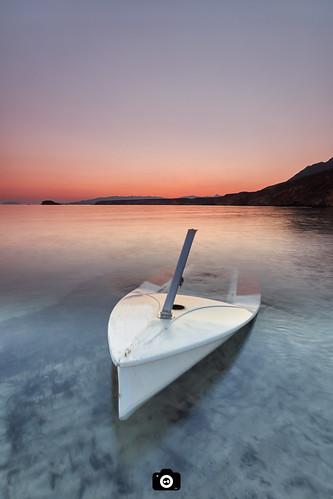 atardecer barca mar playa cielo azul rojo paisaje sunset boat sea seascape beach blue red landscape marmediterraneo mazarron murcia canon1022 canon80d formatthitech