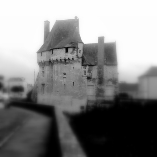 Vestiges of a small fortress (1206) in Western France