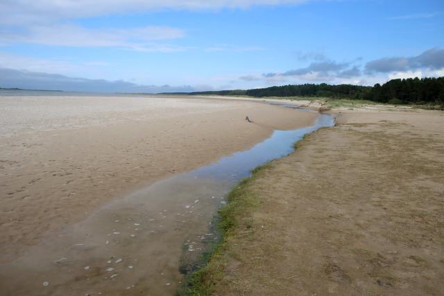 The beach east of Nairn