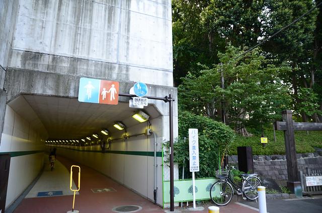 Eastern Exit of Tunnel under Osaki High School