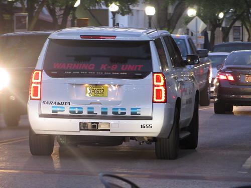 Sarasota Police Department 2015 Chevy Tahoe K9 Unit Photo