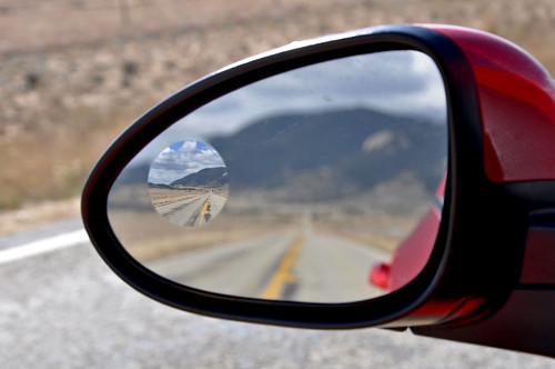 only the blind spot mirror in focus | by Anosmia