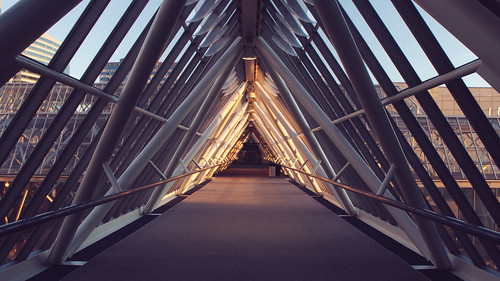 triangles oregon sunrise portland worldtradecenter skybridge pacificnorthwest pdx pnw magichour goldenhour swportland vsco vscofilm vscopresets