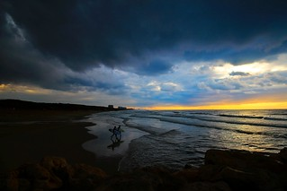 going to surf in the stormy weather - Hertzelia beach - Israel   by Lior. L